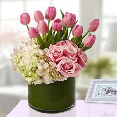 گلدان صورتی-ارسال هدیه به امارات