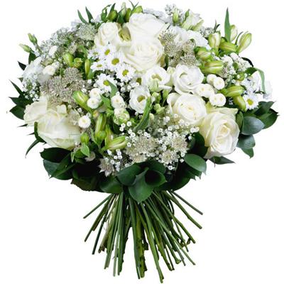 گل های شیک و سفید-ارسال هدیه به هلند