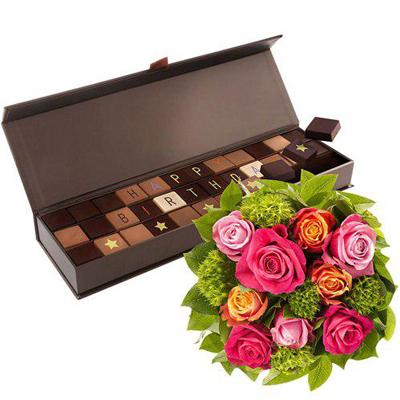 رز و شکلات تولد-ارسال هدیه به فرانسه