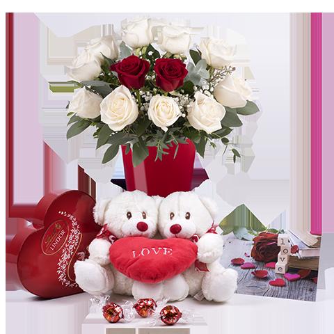 ارسال هدیه به اسپانیا - ارسال گل به اسپانیا-تبریک- ولنتاین- رز قرمز- پکیج – شکلات –کارت پستال