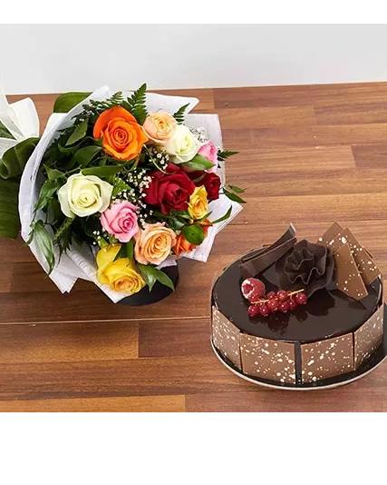 ارسال هدیه به امارات - ارسال کیک شکلات به امارات-تبریک- ولنتاین- جعبه-کیک گل - شکلات