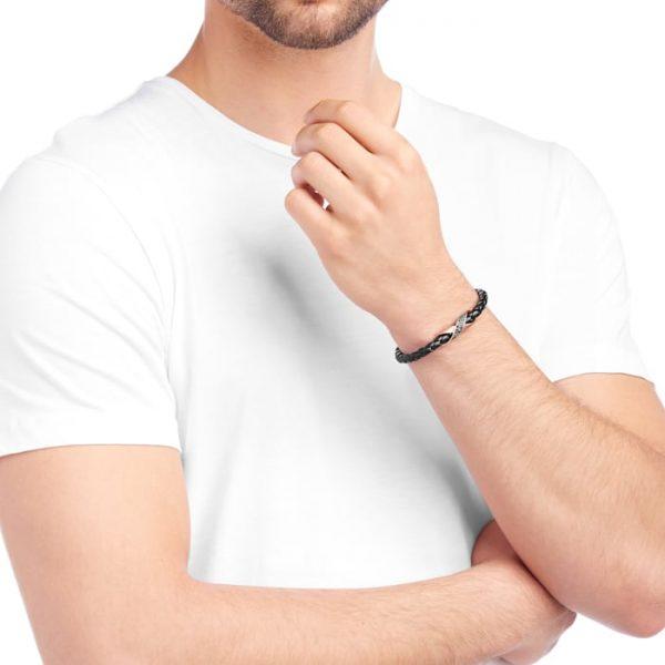 دستبند مردانه سواروسکی- ارسال هدیه به ایتالیا-دستبند مردانه