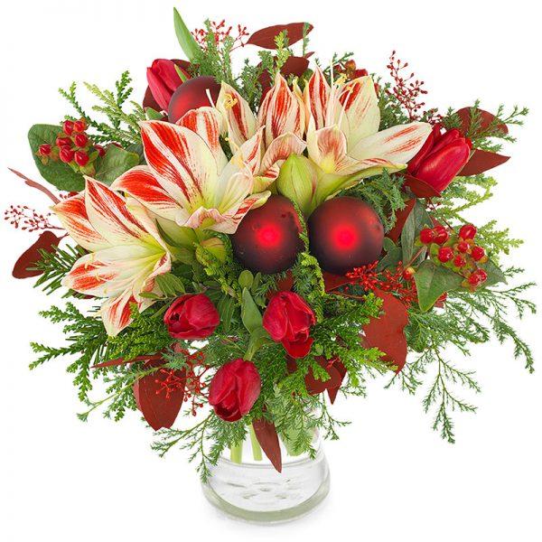 ارسال گل به سوئد- دسته گل دسامبر - گل کریسمسی - ارسال هدیه به سوئد